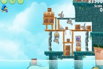 Angry Birds Rio Hidden Harbor Walkthrough Level #1