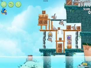 Angry Birds Rio Hidden Harbor Walkthrough Level #1