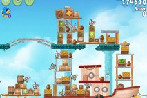 Angry Birds Rio Hidden Harbor Walkthrough Level #8