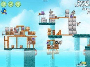 Angry Birds Rio Hidden Harbor Walkthrough Level #9