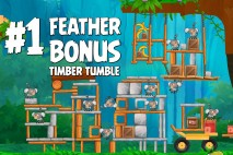 Angry Birds Rio Timber Tumble Feather Bonus Walkthrough Level 1