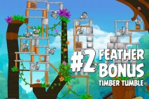 Angry Birds Rio Timber Tumble Feather Bonus Walkthrough Level 2