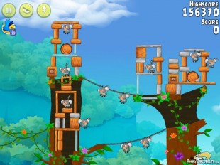 Angry Birds Rio Timber Tumble Walkthrough Level #10