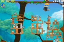 Angry Birds Rio Timber Tumble Walkthrough Level #14