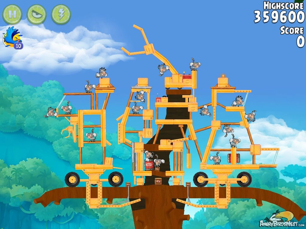 Angry Birds Rio Timber Tumble Walkthrough Level #20 ...