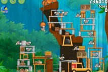 Angry Birds Rio Timber Tumble Walkthrough Level #8