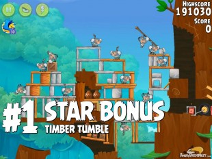 Angry Birds Rio Timber Tumble Star Bonus Walkthrough Level 1