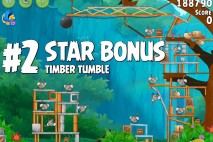 Angry Birds Rio Timber Tumble Star Bonus Walkthrough Level 2