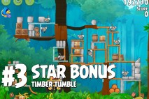 Angry Birds Rio Timber Tumble Star Bonus Walkthrough Level 3