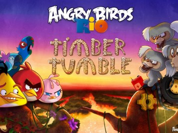 Angry Birds Rio Timber Tumble Wallpaper