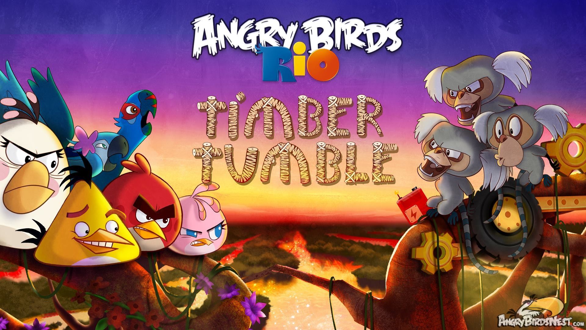 angry birds rio timber tumble now available plus a secret episode hidden harbor updated for. Black Bedroom Furniture Sets. Home Design Ideas