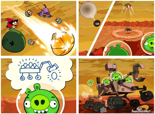 Bad Piggies Mars Curiosity Rover