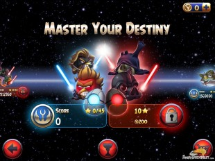 Angry Birds Star Wars 2 Master Your Destiny Episode Selection Screen