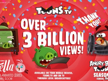 Angry Birds Toons 3 Billion Views