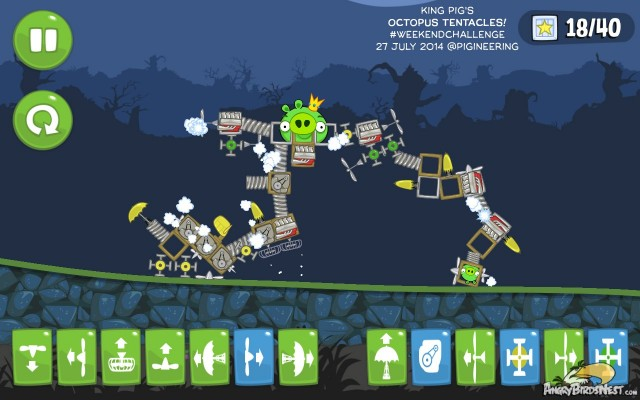 Bad Piggies style Angry Birds Transformer Octopus
