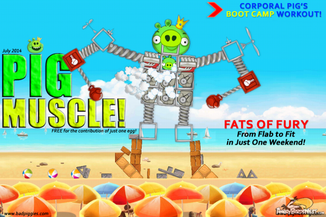 Bad Piggies Fanart Muscle Magazine