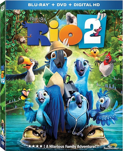 Rio 2 Blu-Ray Release On July 15th Includes 15 Angry Birds