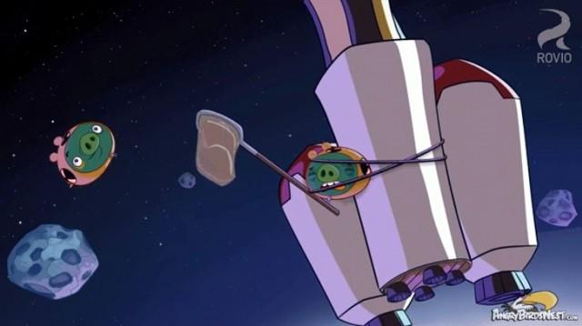 Angry Birds Toons Crash Test Piggies Rocket