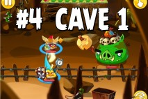 Angry Birds Epic Chronicle Cave 1 Shaking Hall Level 4 Walkthrough