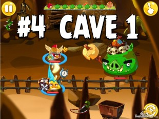 Angry Birds Epic Chronicle Cave 1 Shaking Hall Level 4 Walkthrough
