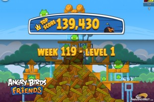 Angry Birds Friends Tournament Level 1 Week 119 Walkthroughs | August 25th 2014