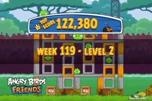 Angry Birds Friends Tournament Level 2 Week 119 Walkthroughs | August 25th 2014