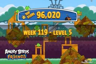 Angry Birds Friends Tournament Level 5 Week 119 Walkthroughs | August 25th 2014