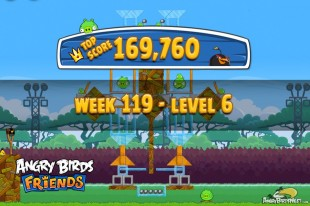 Angry Birds Friends Tournament Level 6 Week 119 Walkthroughs | August 25th 2014