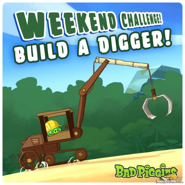 Bad Piggies Build a Digger Weekend Challenge