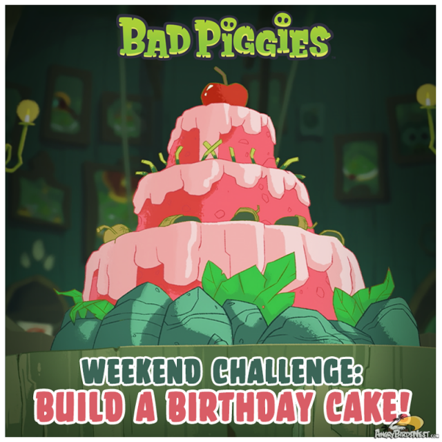 Bad Piggies Birthday Cake Weekend Challenge