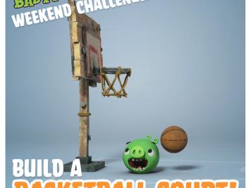 Bad Piggies Weekend Challenge 6 September 2014 - Build a Basketball Court!