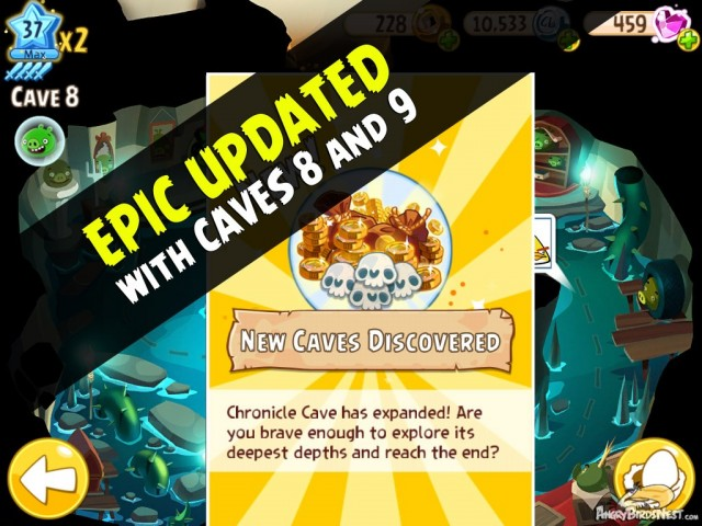 Angry Birds Epic v1.0.14 Caves 8 and 9 Added Featured Image