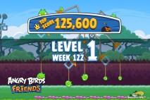 Angry Birds Friends Bouncy Tournament Level 1 Week 122 Walkthroughs | September 15th 2014