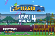 Angry Birds Friends Bouncy Tournament Level 4 Week 122 Walkthroughs | September 15th 2014