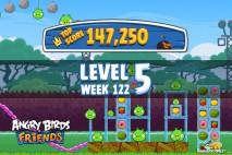 Angry Birds Friends Bouncy Tournament Level 5 Week 122 Walkthroughs | September 15th 2014