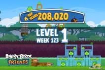 Angry Birds Friends Tournament Level 1 Week 123 Walkthroughs | September 22nd 2014