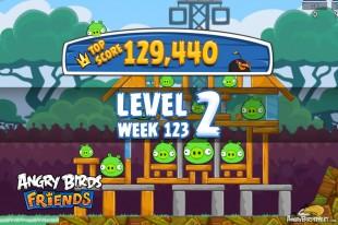 Angry Birds Friends Tournament Level 2 Week 123 Walkthroughs | September 22nd 2014
