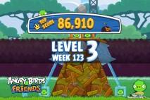 Angry Birds Friends Tournament Level 3 Week 123 Walkthroughs | September 22nd 2014