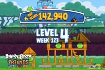 Angry Birds Friends Tournament Level 4 Week 123 Walkthroughs | September 22nd 2014
