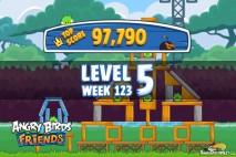 Angry Birds Friends Tournament Level 5 Week 123 Walkthroughs | September 22nd 2014