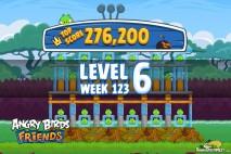 Angry Birds Friends Tournament Level 6 Week 123 Walkthroughs | September 22nd 2014