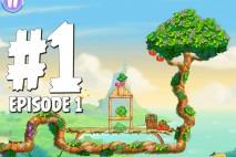 Angry Birds Stella Level 1 Episode 1 Walkthrough