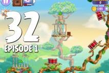 Angry Birds Stella Level 32 Episode 1 Walkthrough