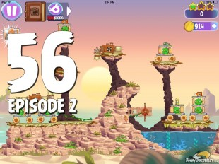 Angry Birds Stella Level 56 Episode 2 Walkthrough