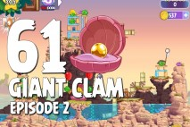 Angry Birds Stella Level 61 Giant Clam Episode 2 Walkthrough