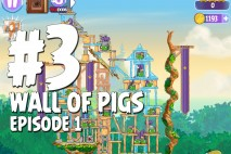 Angry Birds Stella Wall Of Pigs #3 Episode 1 Walkthrough