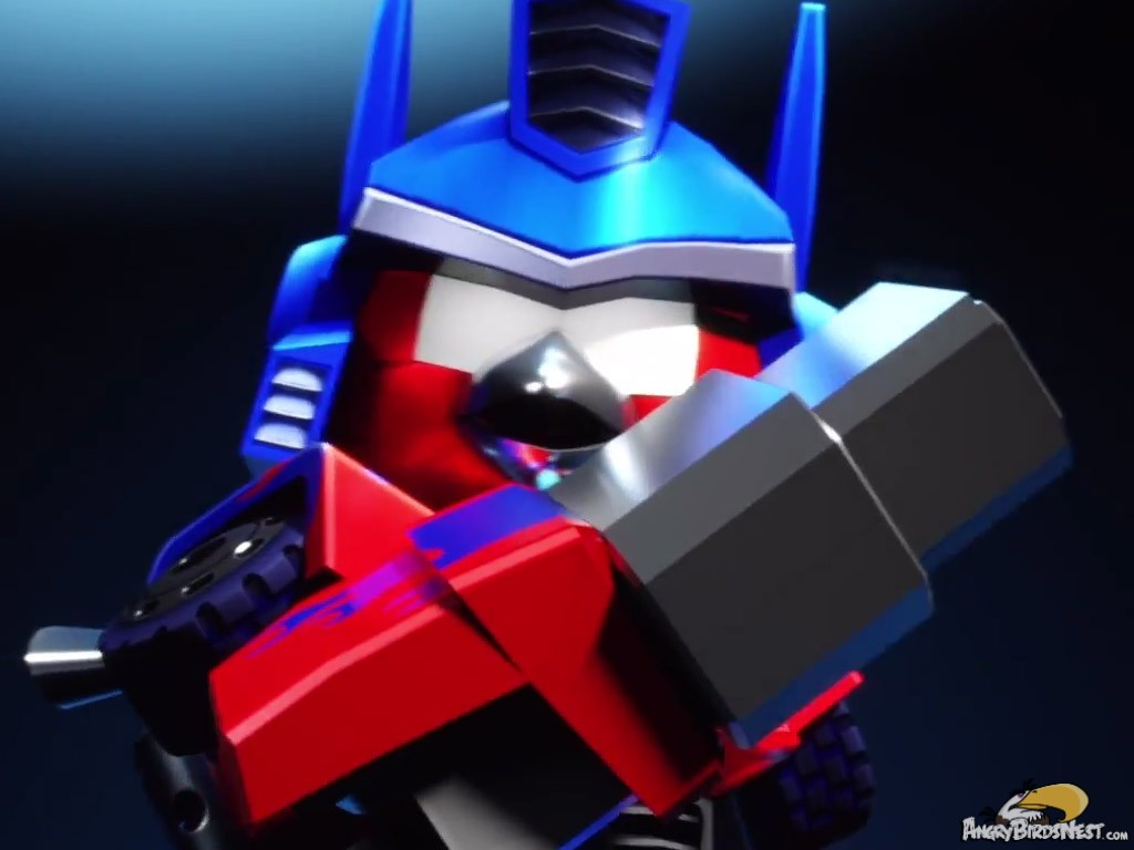 Angry Birds Transformers: Red Bird as Optimus Prime Doing ...