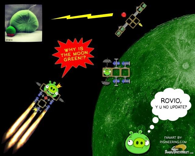 Bad Piggies Lunar Landing Fanart
