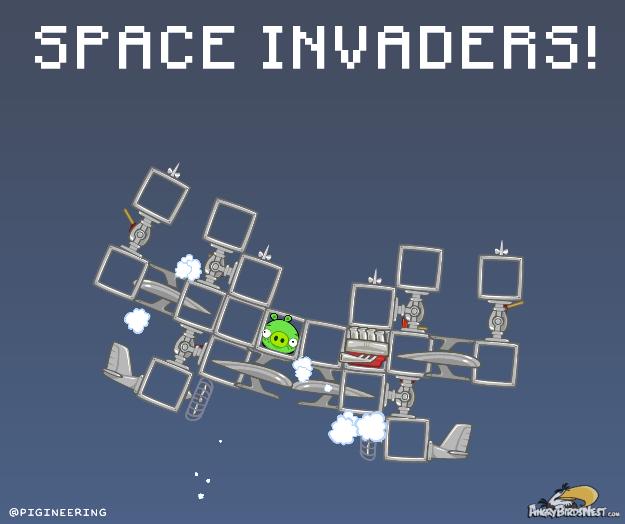 Bad Piggies Space Invaders