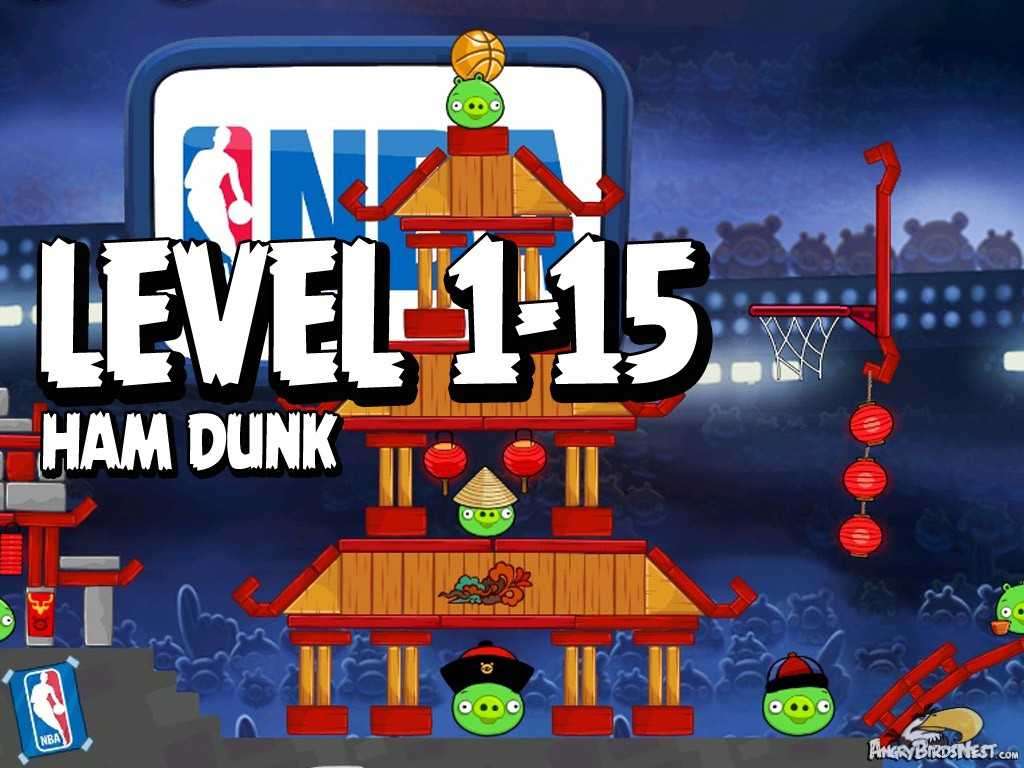 Angry Birds Seasons Ham Dunk 1-15 Numbered